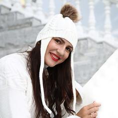 De mujer Simple Tejido Disquete Sombrero