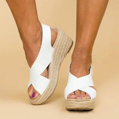 PU Wedge Heel Sandals Wedges shoes