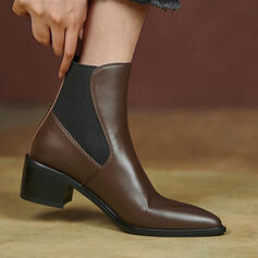 Women's Leatherette Chunky Heel With Splice Color shoes