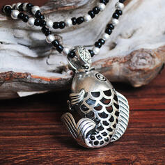 Exquisite Chic Charming Fox Attractive Alloy With Beads Women's Ladies' Girl's Necklaces