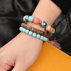 Boho Beads With Elephant Women's Bracelets (Set of 3)
