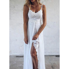 Solid Lace Sleeveless A-line Slip/Skater Party/Vacation Maxi Dresses