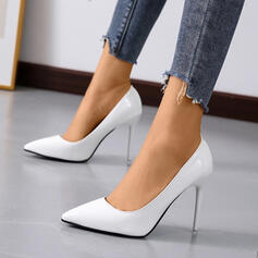 De mujer Cuero Tacón stilettos Salón Tacones con Color sólido zapatos