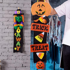 Lovely Horrifying Cartoon Halloween Pumpkin Rubber Wall Art