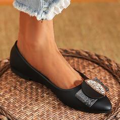 Femmes PU Autres Chaussures plates Glisser sur avec Strass chaussures