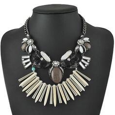Vintage Boho Elegant Artistic Alloy With Imitation Stones Women's Necklaces