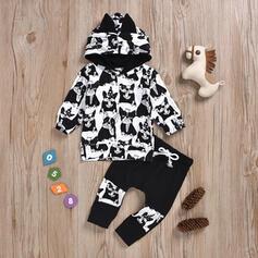 2-pieces Baby Cartoon Animal Print Cotton Set
