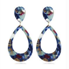 Stylish Leopard Alloy Acrylic Women's Earrings