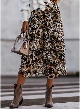 Tecido de seda Leopardo Maxi Sexy Tamanho positivo