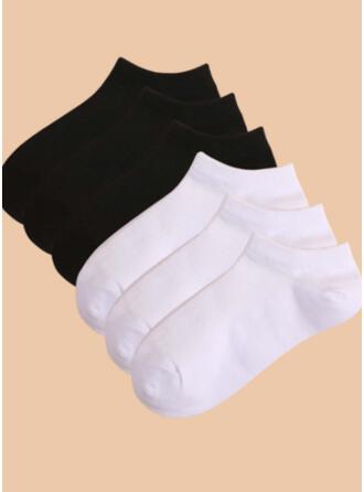 Solid Color simple/Ankle Socks Socks (Set of 6 pairs)
