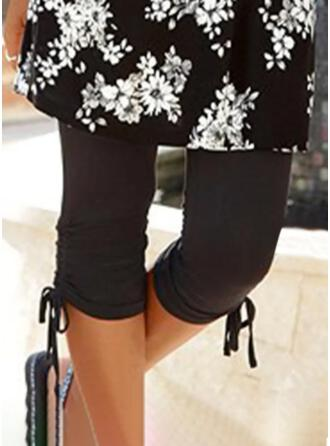 Couleur Unie Capris Sportif Grande taille Cordon Pantalon leggings