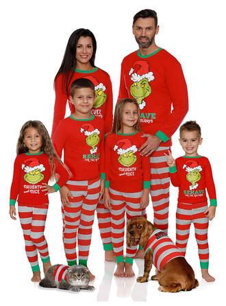 Carta raya Dibujos animados Familia a juego Pijamas De Navidad