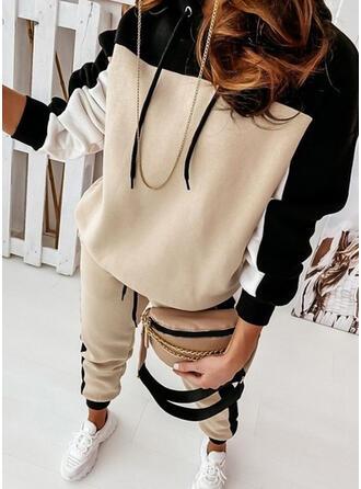 Bloc de Couleur Sportif Décontractée Grande taille Sweatshirts & Tenues deux pièces ensemble