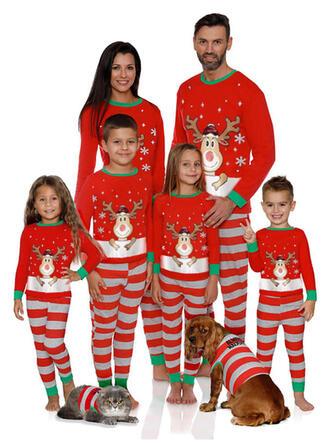Deer Striped Family Matching Christmas Pajamas