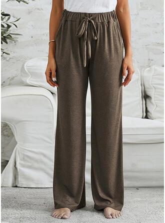 Pockets Drawstring Casual Long Lounge Pants