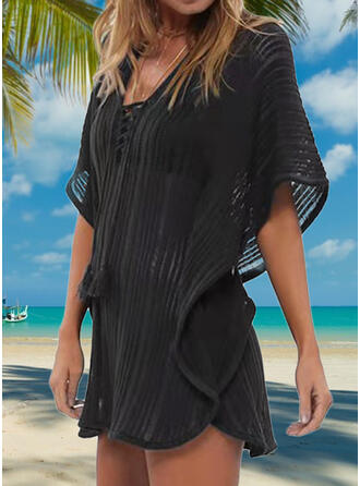 Crochet Round Neck Sexy Elegant Cover-ups Swimsuits