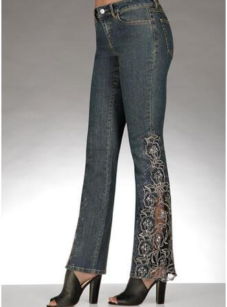 Denim Long Casual Denim & Jeans