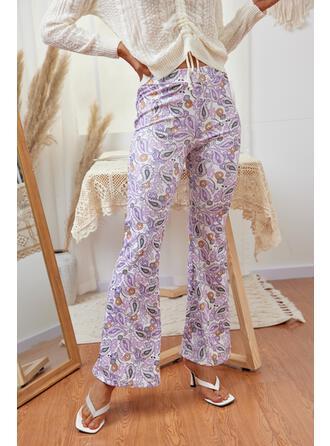Impresión Largo Casual Pantalones