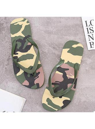 Femmes PVC Talon plat Sandales Tongs Chaussons avec Bloc de couleur chaussures