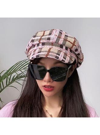 Femmes Glamour/Charme/Style Vintage/Artistique Coton avec Lin Béret Chapeau