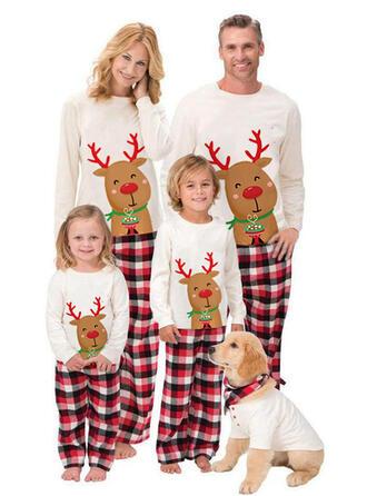 Reindeer Plaid Family Matching Christmas Pajamas