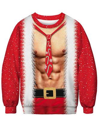 Unisex Estampado Camisola de Natal Feio