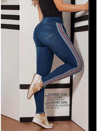 Couleur Unie Tondu Sportif Pantalon