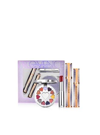 4 PCS Matte Classic Lipsticks Mascara Eyeshadow Palette With Box