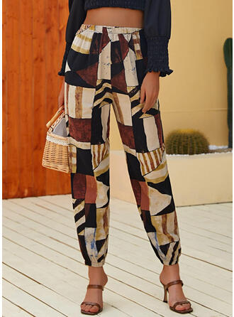 Géométrique Tondu Décontractée Vacances Pantalon