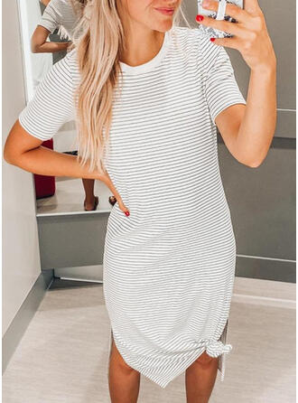 Short Sleeves Bodycon Knee Length Casual Dresses