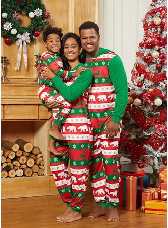 Reindeer Bear Print Family Matching Christmas Pajamas
