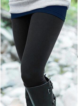 Couleur Unie Longue Décontractée Grande taille leggings