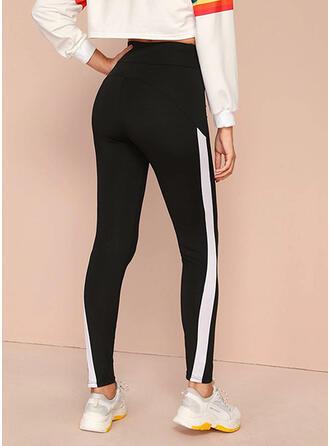 Color Block Print Long Casual Pants