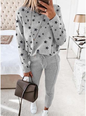 Imprimé Décontractée Grande taille Sweatshirts & Tenues deux pièces ensemble