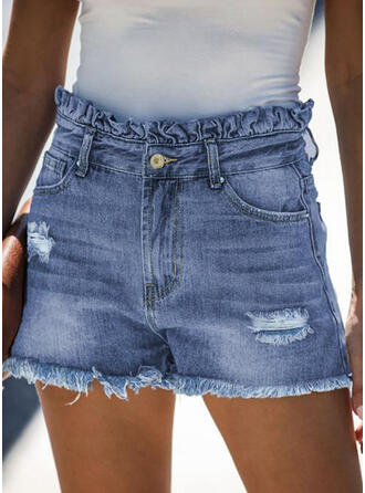 Ripped Tassel Casual Vintage Shorts Denim & Jeans