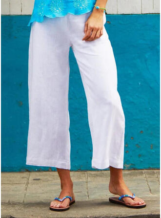 Shirred Plus Size Boho Casual Pants