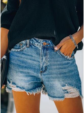 Ripped Tassel Casual Vintage Shorts Denim & Jeans