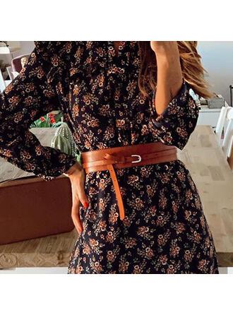 Elegant Alloy Leather Women's Belts