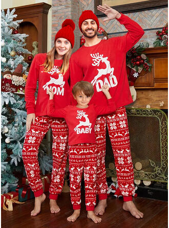 Rena Carta Estampado Família Combinando Natal Pijama