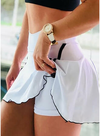 Solid Yoga Stretchy Shorts