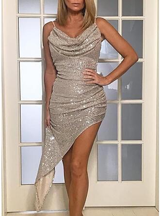 Solid Sleeveless Bodycon Sexy Midi Dresses