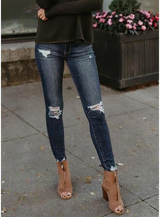Treillis Longue Décontractée Jeans