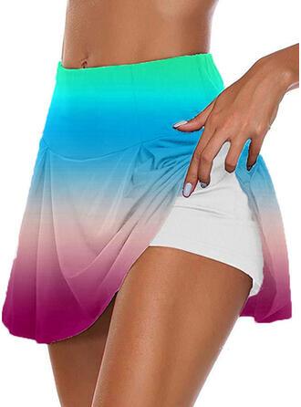 Plus Size Gradient Casual Sporty Shorts