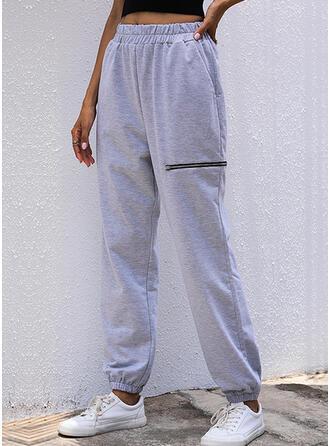 Couleur Unie Longue Décontractée Pantalon