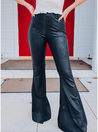 Sólido Largo Casual Pantalones