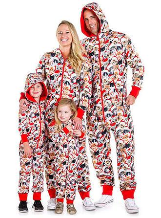 Caricatura Impressão Família Combinando Natal Pijama Pijamas