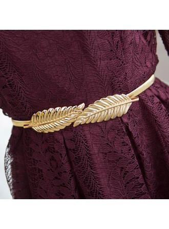 Casual Elegante Decoração de corrente de metal Metal Cintos magros ()