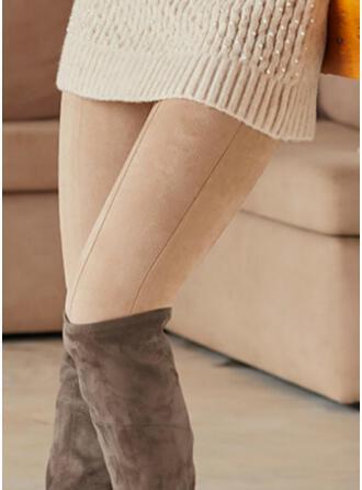 Couleur Unie Longue Décontractée Grande taille Pantalon