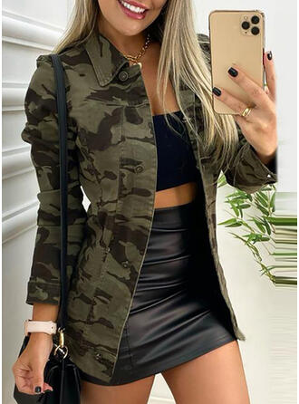 Long Sleeves Print Camouflage Jackets