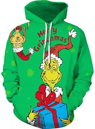 Unisex Estampado Carta Camisola de Natal Feio